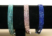 Diamante crystal chain bracelet